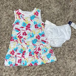 Girls Chaps White Floral Summer Dress & Bloomers